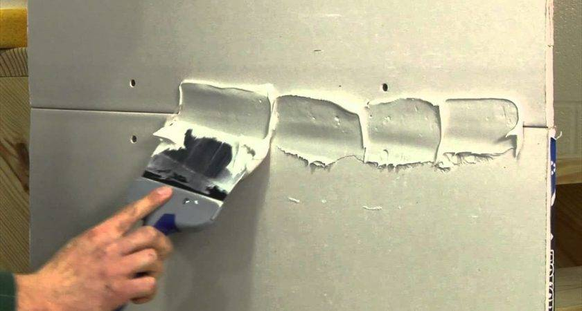 Finishing Drywall Joint Step Youtube