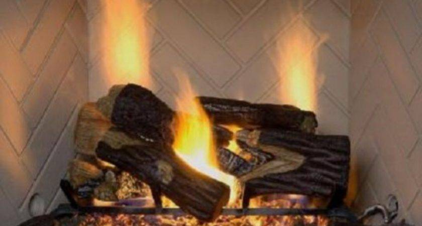Fireplace Logs Natural Gas Vented Dual Burner Btu