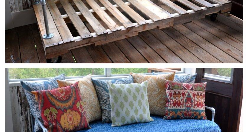 First Pinterest Project Pallet Couch Fishsmith Blog