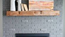 Fixer Upper Brick Fireplace Makeover Before