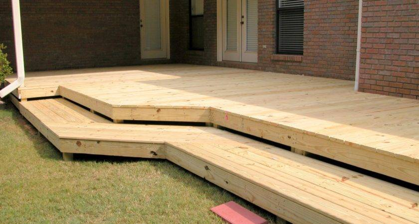 Flat Deck Wrap Around Steps Fence Decks