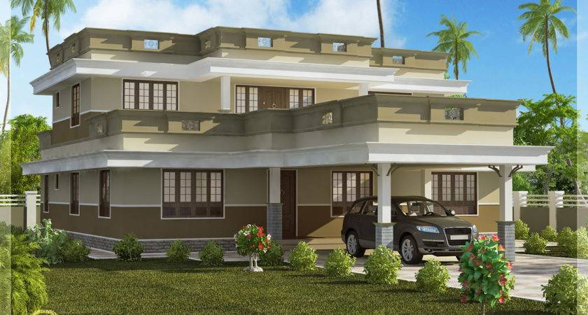 Flat Roof Home Design Bedroom Kerala