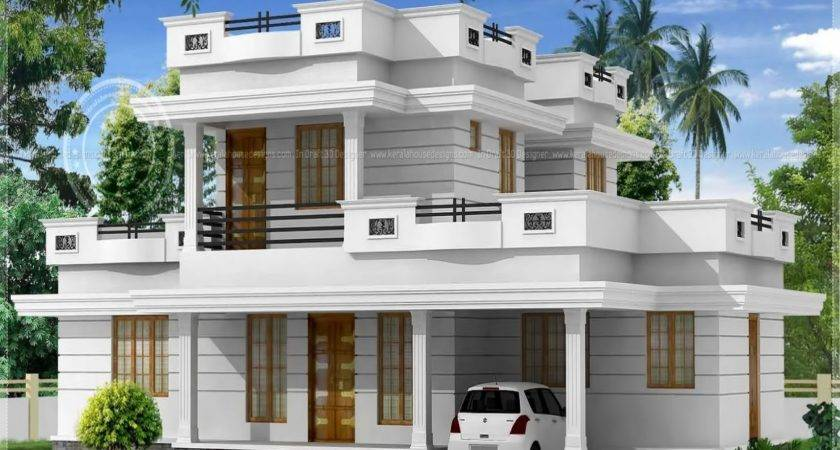 Flat Roof House Design Plans Samples Classic Simple