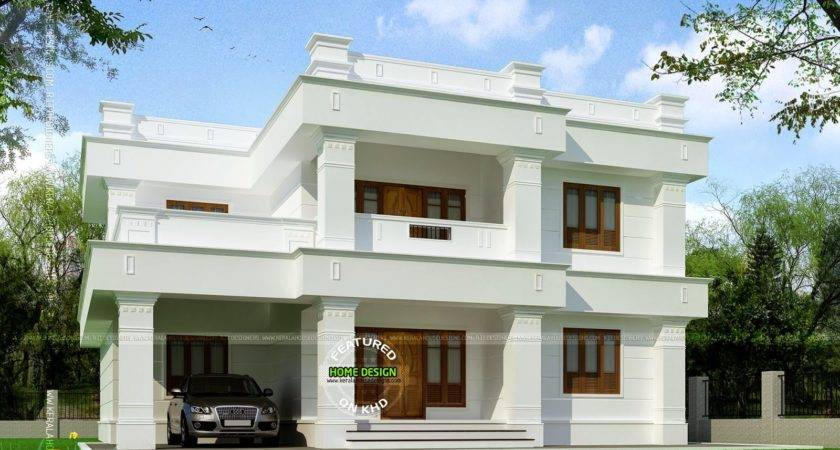 Flat Roof Square Yards House Kerala Home Design