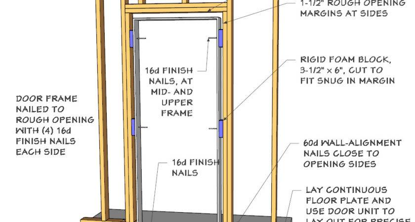 Framing Out Door Floating Basement Walls