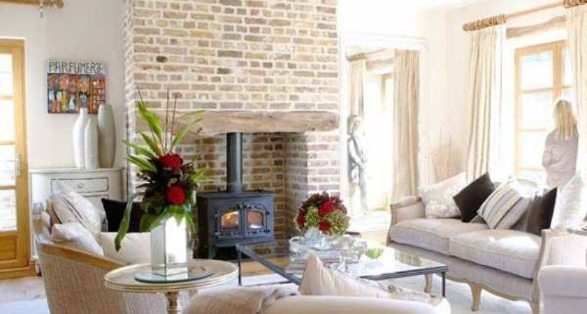 French Country Home Fireplace