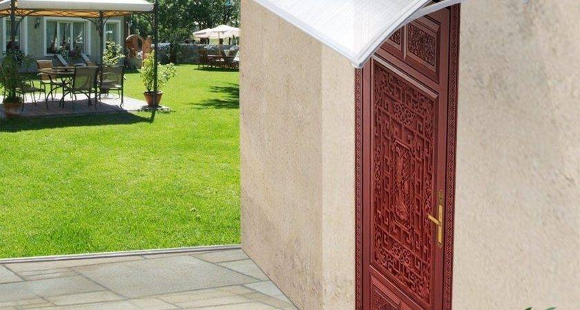 Front Door Canopy Porch Rain Snow Protection Shelter Cover