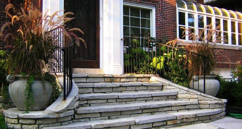 Front Entrance Steps Steval Decorations