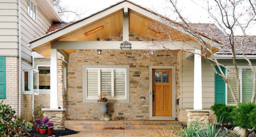 Front Porch Gable Roof Exterior Tropical Rocking