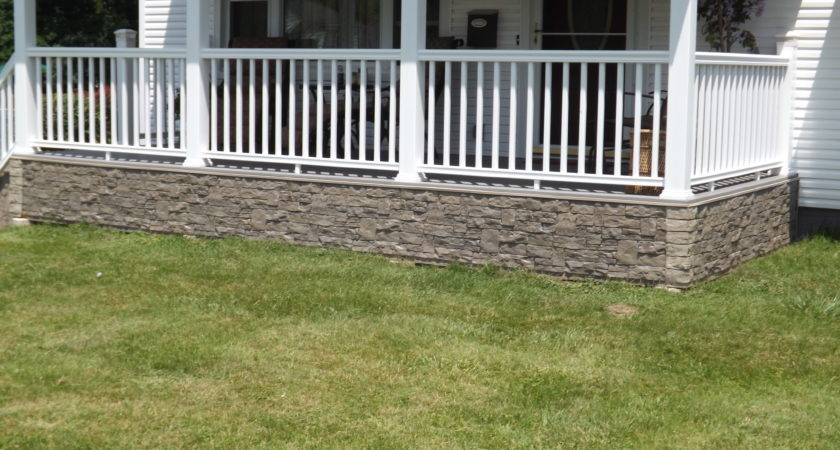 Front Porch Idea Stone Style Creative Faux Panels
