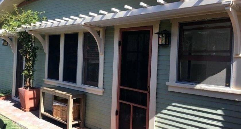 Front Porch Pergola Curb Appeal Home