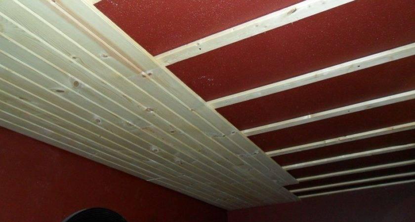 Furniture Beadboard Plank Ceiling Over Popcorn