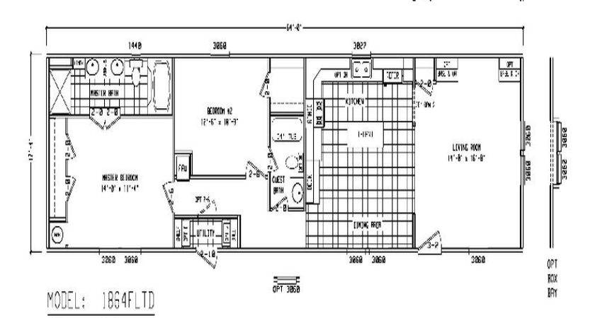 Furniture Single Wide Mobile Home Floor Plans Double