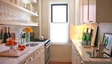 Galley Kitchen Cream Cabinets Afreakatheart