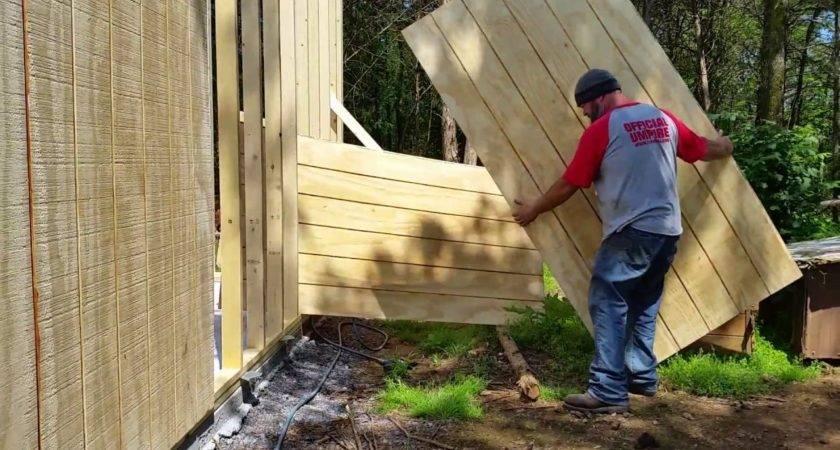 Garage Build Siding One Man Install Youtube