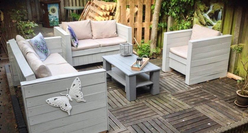 Garden Ideas Build Pallet Patio Furniture Make Out