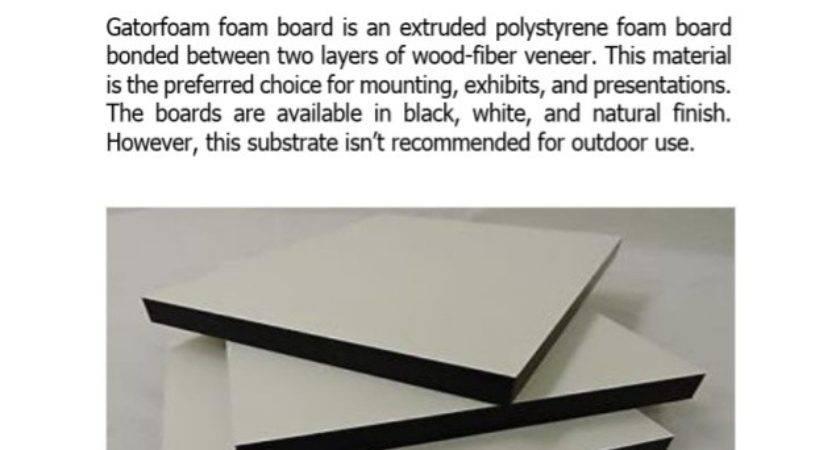 Gatorfoam Foam Board Types Features Uses