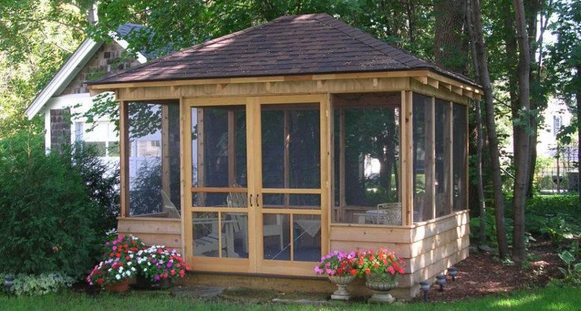 Gazebo Design Amusing Outdoor Screen House Gazebos