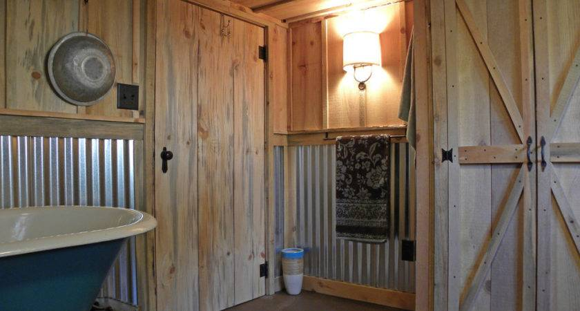 Glamorous Corrugated Metal Vogue Barn Wood Bathroom