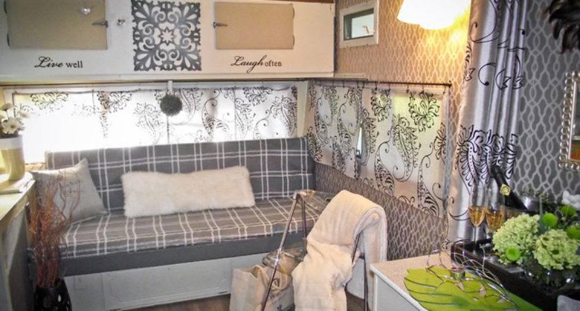 Glamper Trailer Traditional Living Room