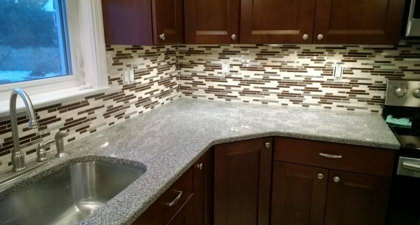 Glass Mosaic Backsplash Sjm Tile Masonry