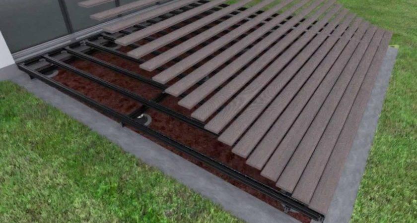 Great Deck Over Concrete Patio Lay Flooring