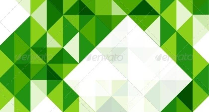 Green Modern Geometric Design Template Antishock