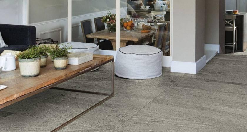 Grey Floor Living Room Houses Flooring Ideas