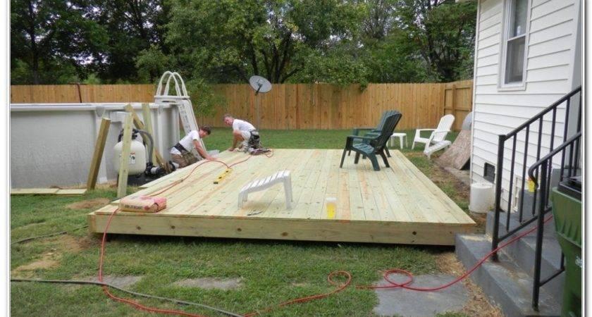 Ground Level Deck Plans Decks Home Decorating