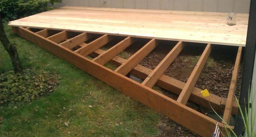 Ground Level Decks More Deck Framing