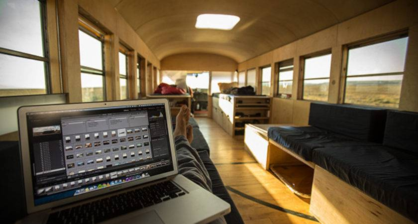 Guy Transformed Old School Bus Into Mobile Home