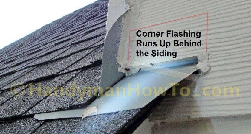 Hail Damaged Roof Replacement Part Rake Wall Corner