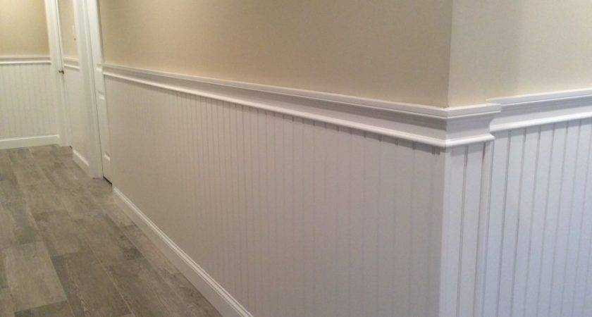 Hallway Wainscoting Chair Rail Moulding Mantoloking