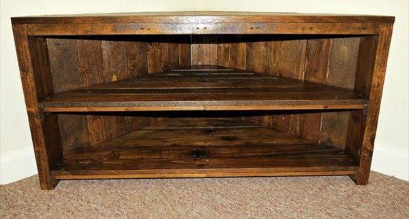Handmade Pallet Sectional Stand Furniture Plans