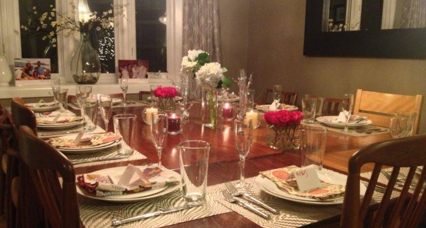 Hang Christmas Lighting Dinner Party Decoration