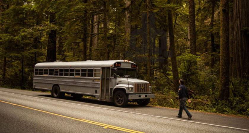 Hank Bought Bus School Converted Mobile