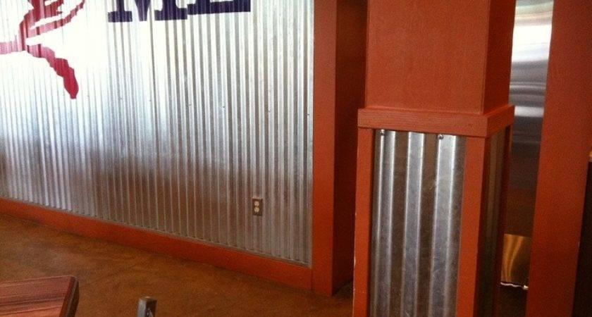 High Corrugated Metal Interior Walls