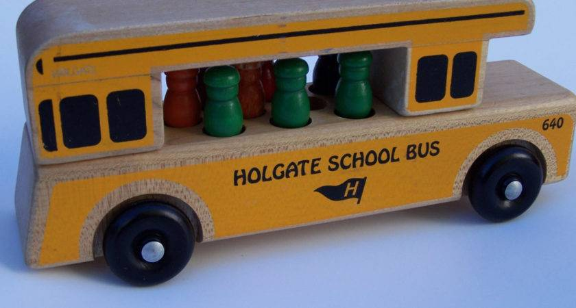 Holgate Wooden Yellow School Bus Made Usa Vintage