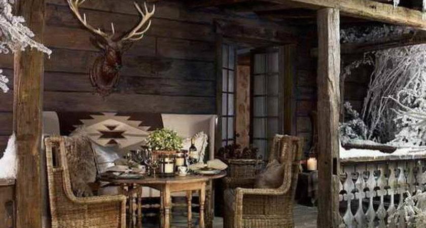 Home Design Rustic Country Porch Decor Ideas