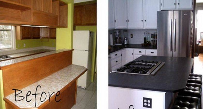 Home Remodeling Small Kitchen Remodel Before After