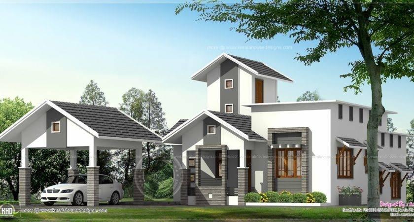 Home Separate Car Porch Kerala Design Floor Plans House
