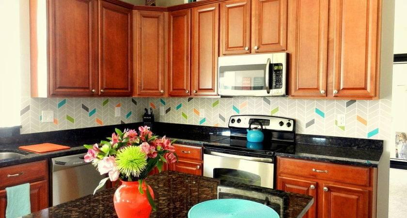 Hometalk Colorful Painted Kitchen Backsplash