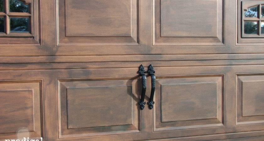 Hometalk Diy Faux Stained Wood Garage Door Tutorial