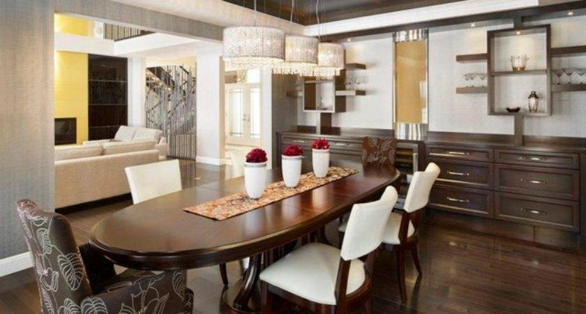 Iconic Show Home Contemporary Dining Room Edmonton