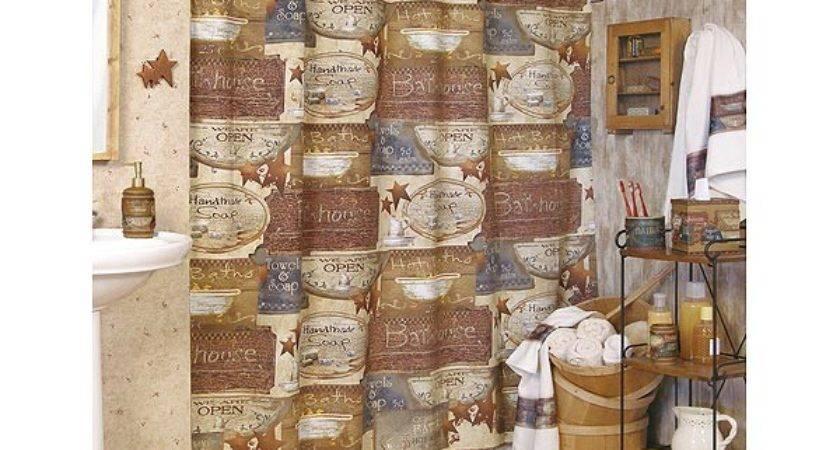 Ideas Primitive Country Decor Bathroom Walls