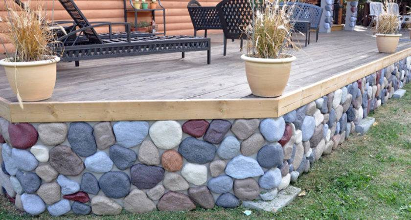 Ideas Skirting Faux Rock Mobile Homes