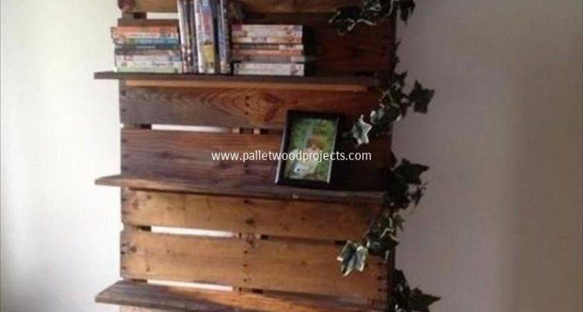 Ideas Wooden Pallet Shelves Wood Projects