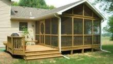 Indoor Screened Deck Back Porch Design