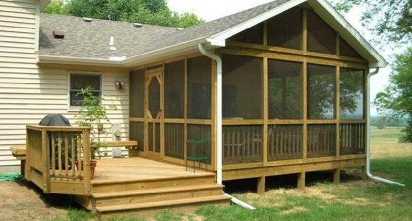 Indoor Screened Deck Back Porch Design