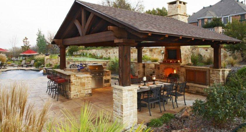 Inside Stone Walls Large Outdoor Shelters Rustic